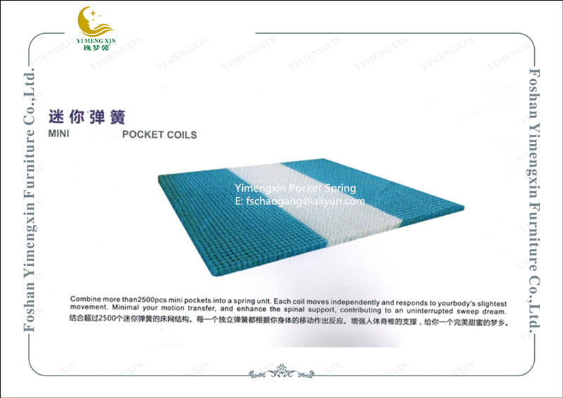 King Size Mattress Pocket Spring System Individual Design Rust Prevention